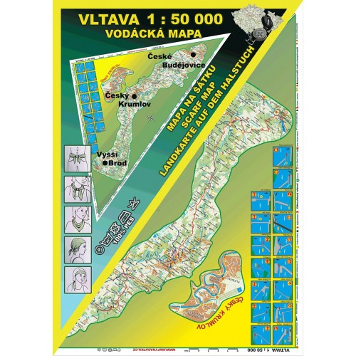 VLTAVA (VODÁCKÁ MAPA NA ŠÁTKU)
