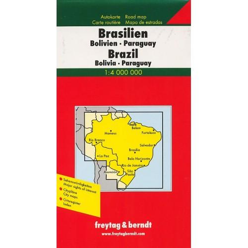BRAZÍLIE, BOLÍVIE,PARAGUAY