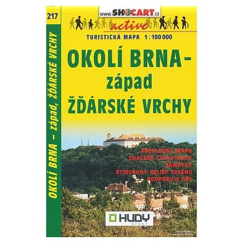 217 OKOLÍ BRNA-ZÁPAD, ŽĎÁRSKÉ VRCHY