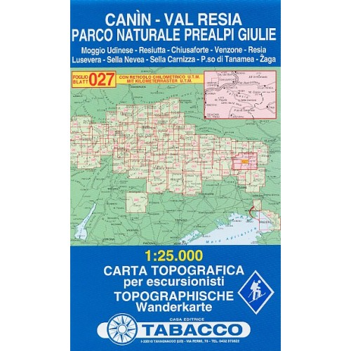 027 CANIN-VAL RESIA-PARCO NATURALE PREALPI GIULIE