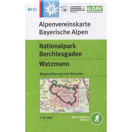 Turisticka Mapa Nationalpark Berchtesgaden Watzmann