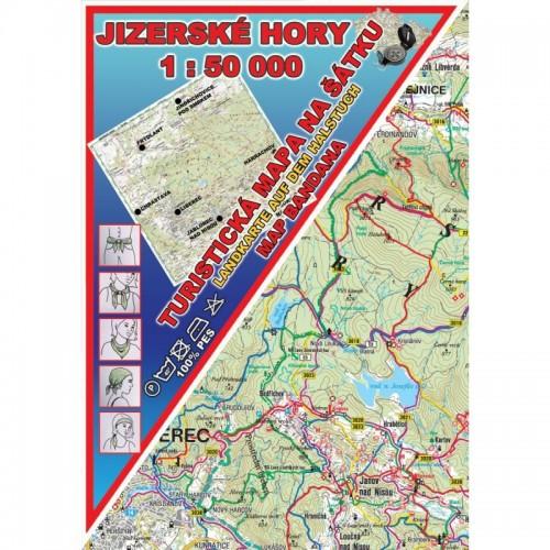 JIZERSKÉ HORY-MAPA NA ŠÁTKU