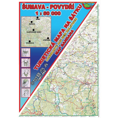 ŠUMAVA-POVYDŘÍ (MAPA NA ŠÁTKU)
