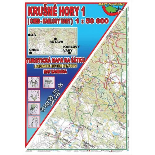 KRUŠNÉ HORY 1-CHEB, KARLOVY VARY (MAPA NA ŠÁTKU))
