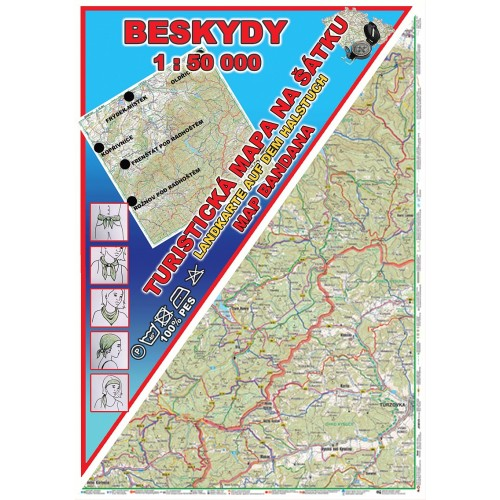 BESKYDY (MAPA NA ŠÁTKU)