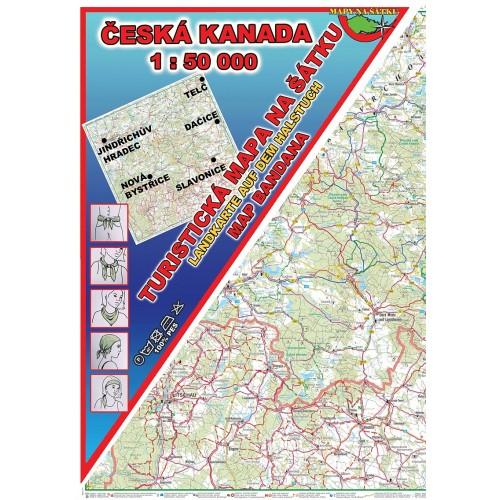 ČESKÁ KANADA (MAPA NA ŠÁTKU)