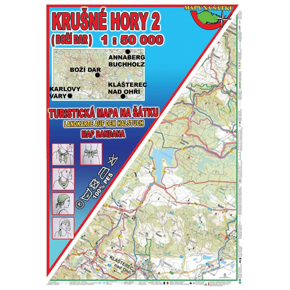 Turisticka Mapa Na Satku Krusne Hory 2 Bozi Dar