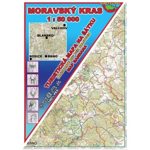 MORAVSKÝ KRAS (MAPA NA ŠÁTKU)