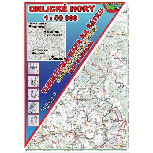 ORLICKÉ HORY (MAPA NA ŠÁTKU)