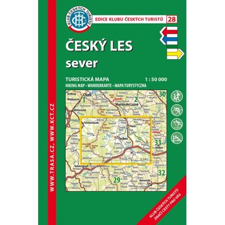 Turisticka Mapa Cesky Les Sever