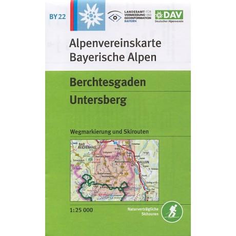 Turisticka Mapa Berchtesgaden Untersberg