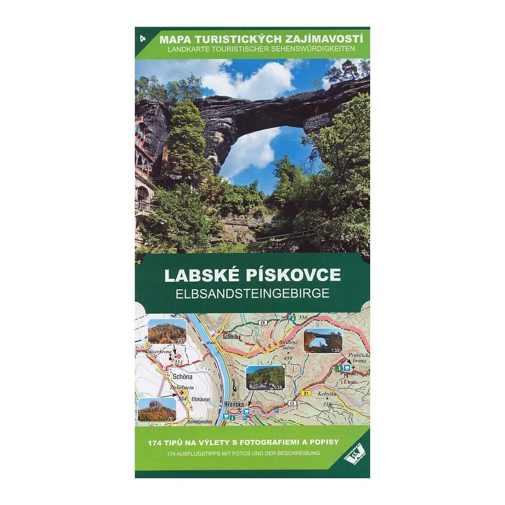 Mapa Turistickych Zajimavosti Labske Piskovce