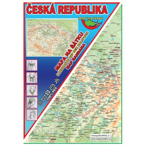 ČESKÁ REPUBLIKA (MAPA NA ŠÁTKU)