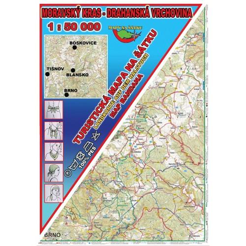 MORAVSKÝ KRAS - DRAHANSKÁ VRCHOVINA (MAPA NA ŠÁTKU)