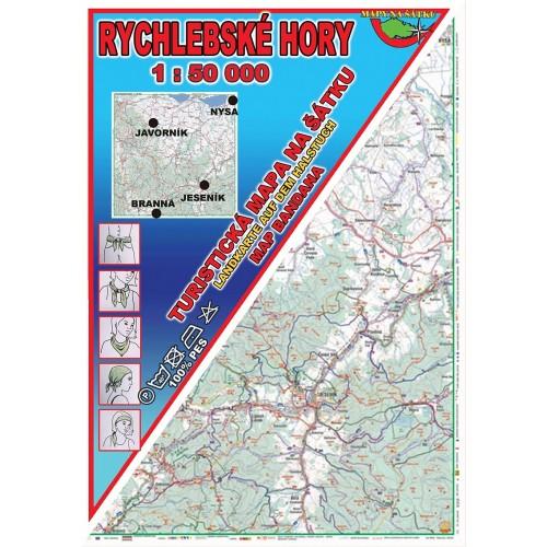RYCHLEBSKÉ HORY (MAPA NA ŠÁTKU)