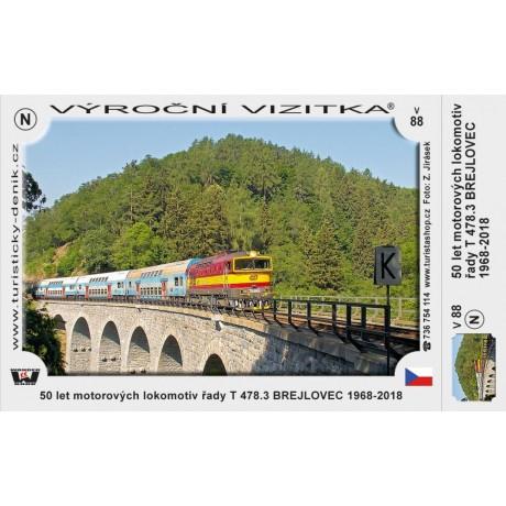 VTV 88 50 LET MOTOROVÝCH LOKOMOTIV T 478.3 BREJLOVEC 1968-2018