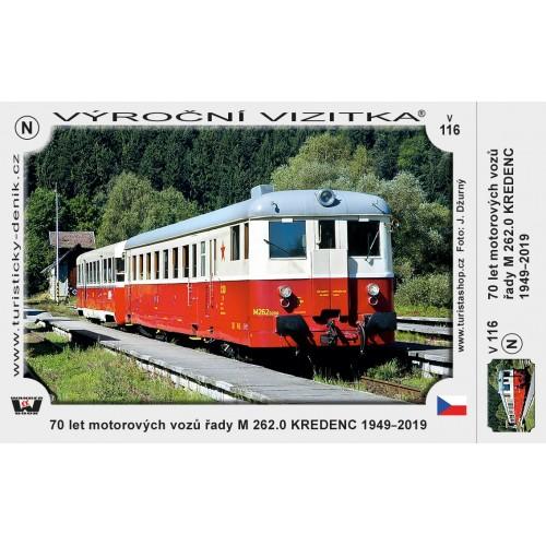 VTV 116 70 LET MOTOROVÝCH VOZŮ M 262.0 KREDENC 1949-2019