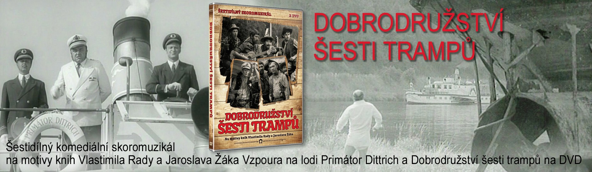 DVD Dobrodružství šesti trampů